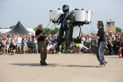 Martin Jetpack Unveiling, Liftoff!