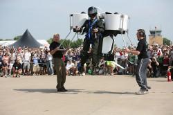 Martin Jetpack Unveiling, Liftoff!